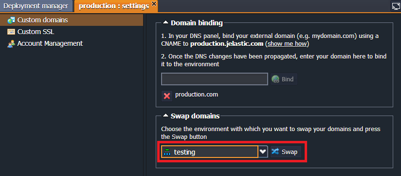 swapping domains